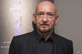 """FILE - Ben Kingsley attends the premiere of """"Operation Finale"""" at the Walter Reade Theater in New York, Aug. 16, 2018."""
