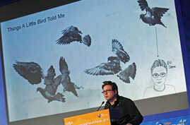Twitter co-founder Biz Stone speaks at the 'World Economy and Future Forum' hosted by broadcaster MBN in Seoul, March 3, 2011