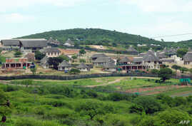 FILE - South African President Jacob Zuma's private residence in Nkandla, some 178 kilometres north of Durban. South Africa's government on December 19, 2013 cleared President Jacob Zuma of any wrongdoing during a controversial $20-million revamp at