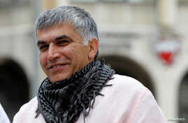 Bahraini human rights activist Nabeel Rajab arrives for his appeal hearing at court in Manama, Feb. 11, 2015.
