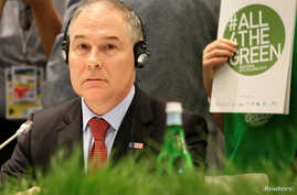 Environmental Protection Agency (EPA) Administrator Scott Pruitt attends during a summit of  Environment ministers from the G7 group of industrialized nations in Bologna, Italy, June11, 2017.
