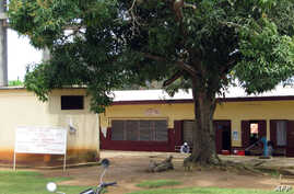 FILE - A general view shows the Mfou district hospital, 30 kms from Yaounde, Cameroon.