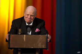 FILE - Don Rickles appears onstage at The 2012 Comedy Awards in New York, April 28, 2012.