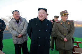 FILE - North Korean leader Kim Jong Un supervised a ballistic rocket launching drill of Hwasong artillery units of the Strategic Force of the KPA on the spot in this undated photo released by North Korea's Korean Central News Agency (KCNA) in Pyongya