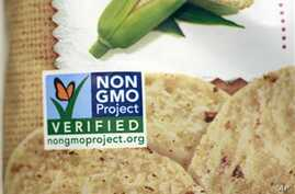 A product labeled with Non Genetically Modified Organism (GMO) is sold at the Lassens Natural Foods & Vitamins store in Los Angeles. Californians are considering Proposition 37, which would require labeling on all food made with altered genetic mater...