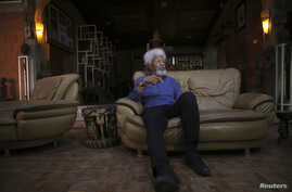 Nigerian Literature Nobel Laureate Wole Soyinka during home interview in the southwest city of Abeokuta, July 1, 2014.