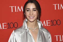 Gymnast Aly Raisman attends the Time 100 Gala celebrating the 100 most influential people in the world at Frederick P. Rose Hall, Jazz at Lincoln Center, April 24, 2018, in New York.