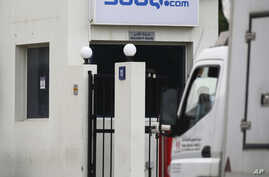 A truck is parked at the entrance of the Souq.com warehouse in Dubai, United Arab Emirates, March 27, 2017.