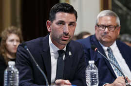 Department of Homeland Security Under Secretary Chad Wolf speaks during a meeting of the President's Interagency Task Force to…