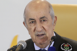 Newly elected Algerian President Abdelmadjid Tebboune speaks during a press conference Friday, Dec.13, 2019 in Algiers…