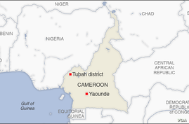 Map of Tubah district, Cameroon