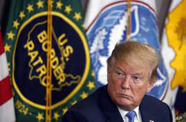 FILE - President Donald Trump participates in a roundtable on immigration and border security, at the U.S. Border Patrol Calexico Station in Calexico, California, April 5, 2019.