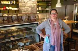 Anna Landmark's business has transformed from being a retail shop and cheese facility to headquarters for collecting, packing an