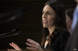 New Zealand Prime Minister Jacinda Ardern speaks during the post-Cabinet press conference in Wellington, May 11, 2020.