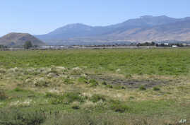 FILE - Pasture land is seen on the eastern front of Sierra Nevada mountain range in western Neveda, Sept. 24, 2019. An earthquake and several aftershocks hit the area Friday.