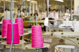 FILE - This April 10, 2012 file photo shows the production department at fashion giant Inditex's headquarters where Zara…