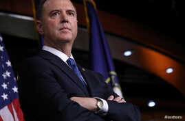 U.S. House Intelligence Committee Chairman Adam Schiff (D-CA) joins Speaker of the House Nancy Pelosi to speak about their…