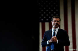 Democratic 2020 U.S. presidential candidate former South Bend, Indiana Mayor Pete Buttigieg attends a campaign event in Las…