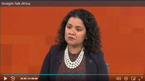 Liz Lizama of the International Organization for Migration on Straight Talk Africa.