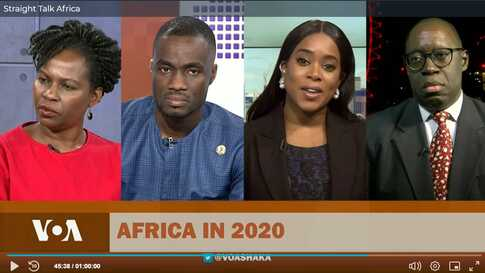 Panel of guests on Straight Talk Africa
