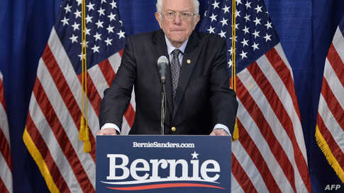 澳门新葡2229网站 Democratic presidential candidate Senator Bernie Sanders(I-VT) speaks to the press after loosing much of super Tuesday to 澳门新葡2229网站…