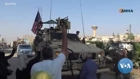 Angry Kurds Hurl Potatoes and Insults at Retreating US Military Convoys