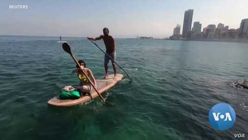 Floating on Cigarette Butts to Clean Beirut's Shores