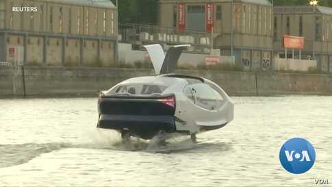 "Noise and Pollution Free, Green ""Flying Taxi"" Spreads Wings on Paris' Seine"