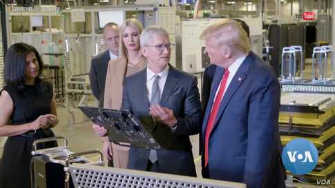Trump's Visit to Apple Factory Brings Possibility of More Tariff Relief