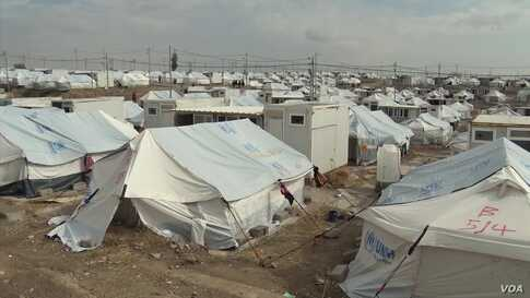 Syrian Kurdish Refugees Speak of Difficulties at Camp