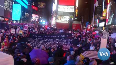 Anti-Trump Protesters Rally in New York, Other Cities
