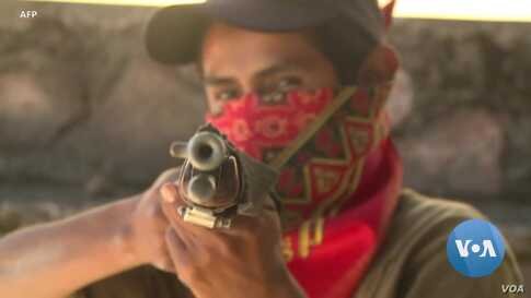 Mexican Children Armed to Protect Community from Drug Gangs