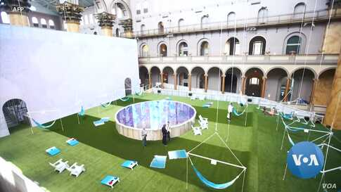 DC Building Museum Invites Visitors to it's Giant Indoor Lawn