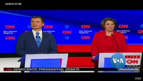 Democratic Presidential Contenders Clash Over Foreign Policy in Iowa Debate