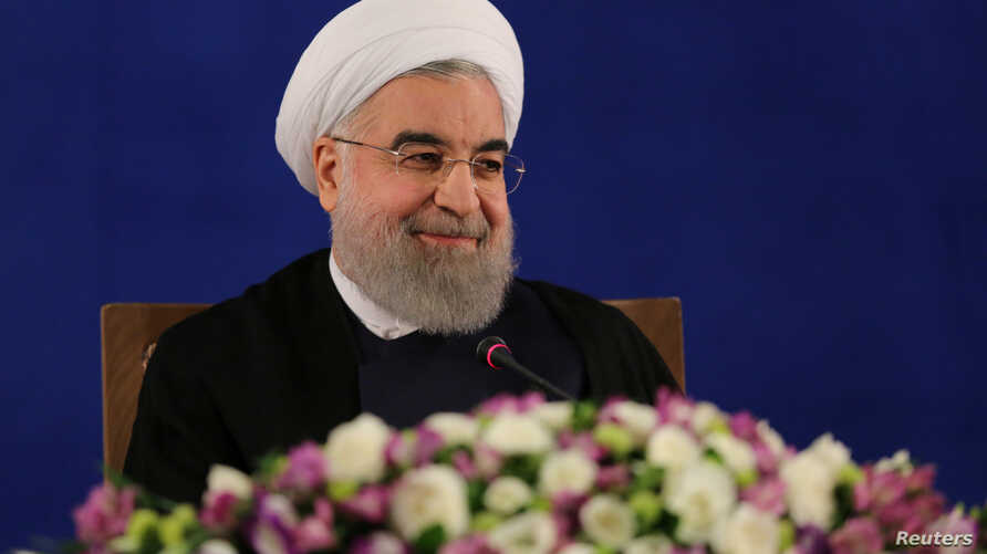 Iranian president Hassan Rouhani attends a news conference in Tehran, Iran, May 22, 2017.