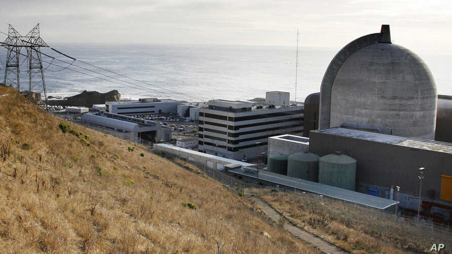 FILE - This Nov. 3, 2008 file photo shows one of Pacific Gas and Electric's Diablo Canyon Power Plant's nuclear reactors in Avila Beach, Calif.