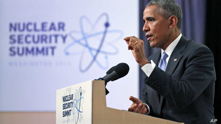 President Barack Obama speaks during a news conference at the Nuclear Security Summit, April 1, 2016, in Washington.