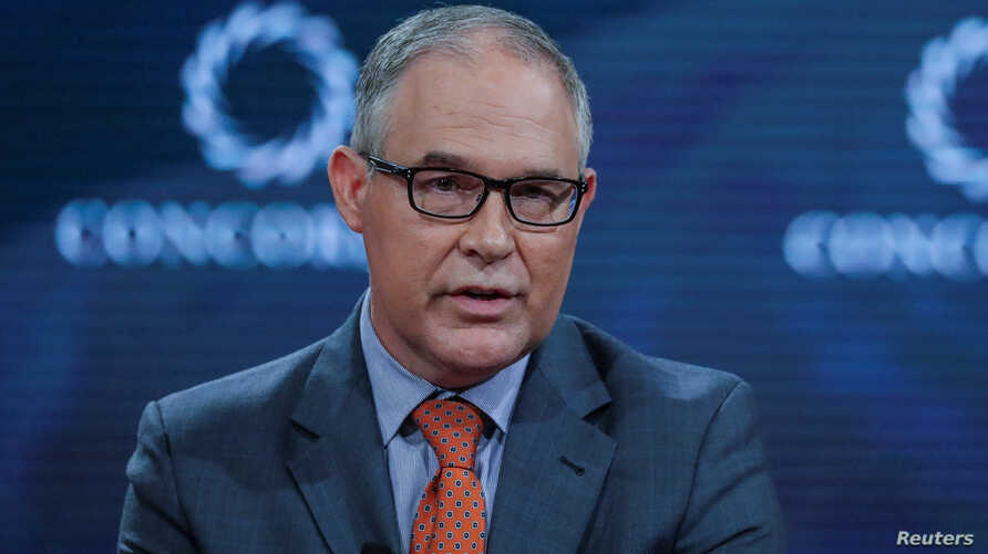 Scott Pruitt, Administrator of the U.S. Environmental Protection Agency, answers a question during the Concordia Summit in Manhattan, New York, U.S.,