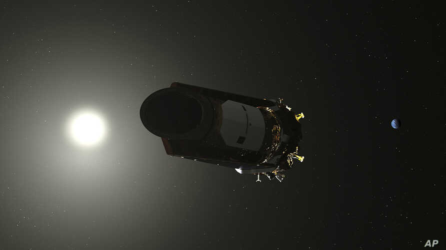 This illustration made available by NASA shows the Kepler Space Telescope. As of October 2018, the planet-hunting spacecraft has been in space for nearly a decade.