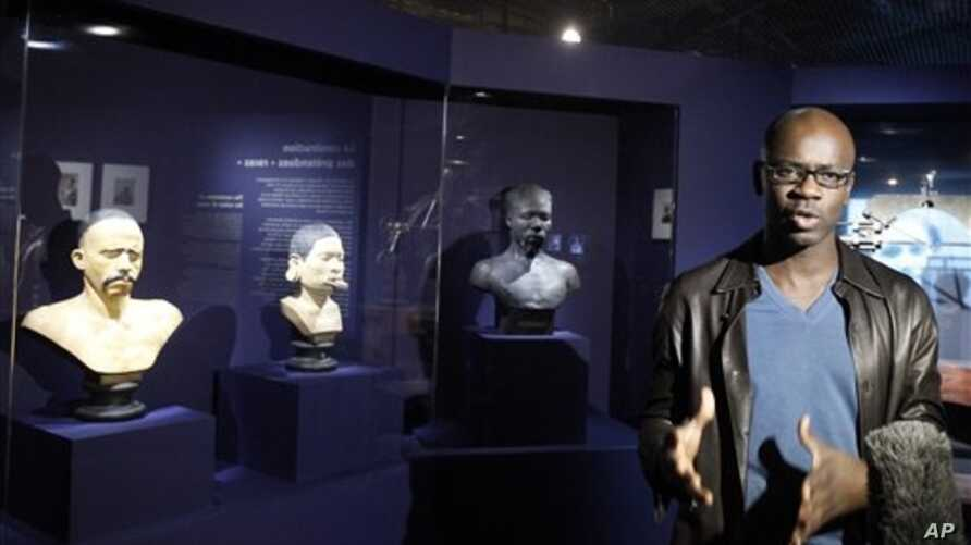 "Former French football player Lilian Thuram, who curated the Paris ""Human Zoos"" exhibit, Nov. 28, 2011."