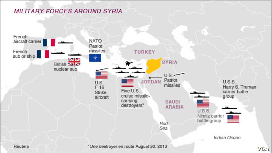 US Military Has Myriad Ways to Strike Syria in Potential ...