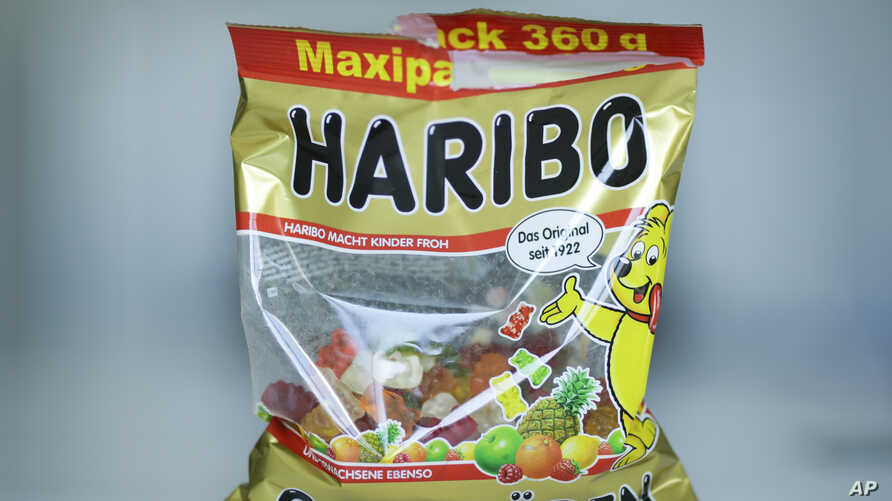 A package with Haribo gummy bears is photographed in Berlin, Germany, 24, 2017.