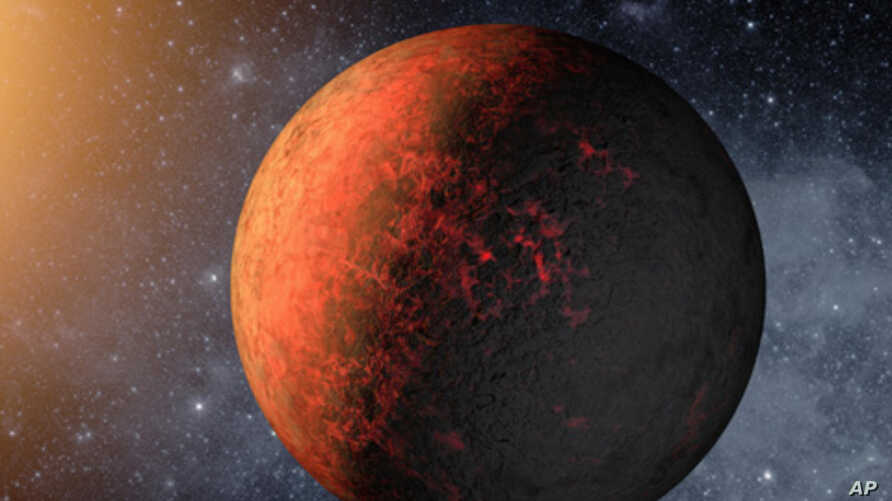 An artist's conception illustrates Kepler-20e. Image credit: NASA/Ames/JPL-Caltech