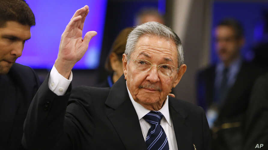Cuba's President Raul Castro arrives for the 70th session of the United Nations General Assembly at U.N. headquarters in New York, Sept. 28, 2015.
