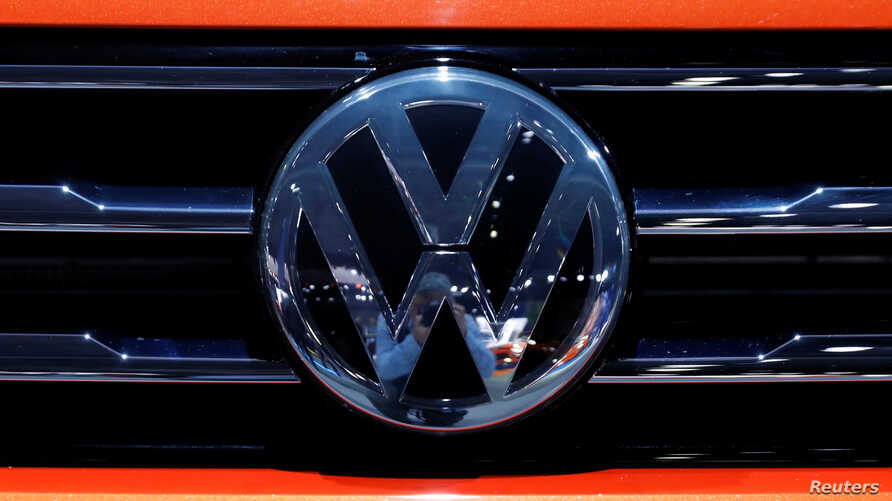 FILE PHOTO: The Volkswagen logo is seen on a vehicle in New York, March 29, 2018.