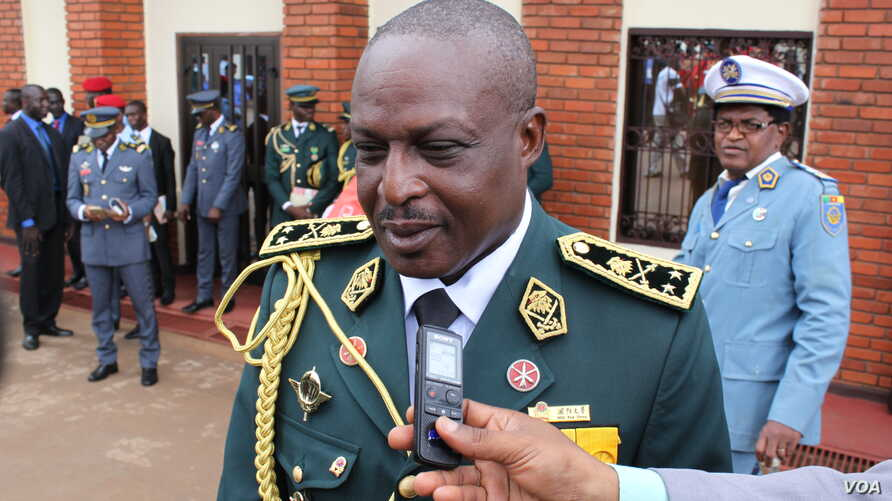 FILE- Cameroon General Jacob Kodji is seen in this 2015 photo posted to the website of the Cameroon Prime Minister.
