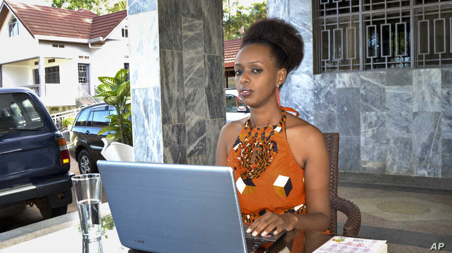 Women's rights activist Diane Shima Rwigara, 35, is photographed at her home in Kigali, Rwanda, May 14, 2017. Rwigara was one of three presidential candidates disqualified July 7, 2017.