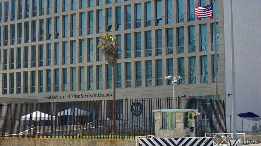 A view of the U.S. Embassy in Havana, Cuba on Sept. 18, 2017.