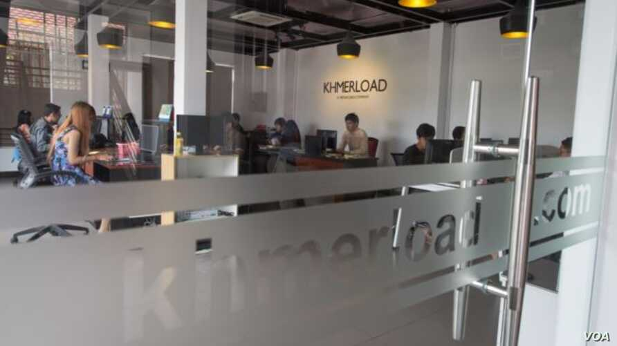 Khmerload.com, based in Phnom Penh, is the first Cambodian tech startup to receive such financial backing. (Neou Vannarin/VOA Khmer)