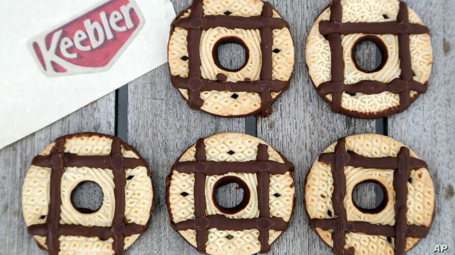 FILE - Keebler's iconic cookies celebrate hashtags in this image distributed by Keepler.
